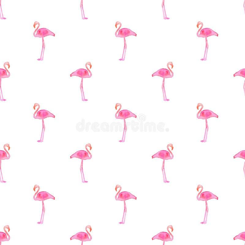 Bezszwowy wzór z flamingami tło rysująca ręka również zwrócić corel ilustracji wektora ilustracja wektor