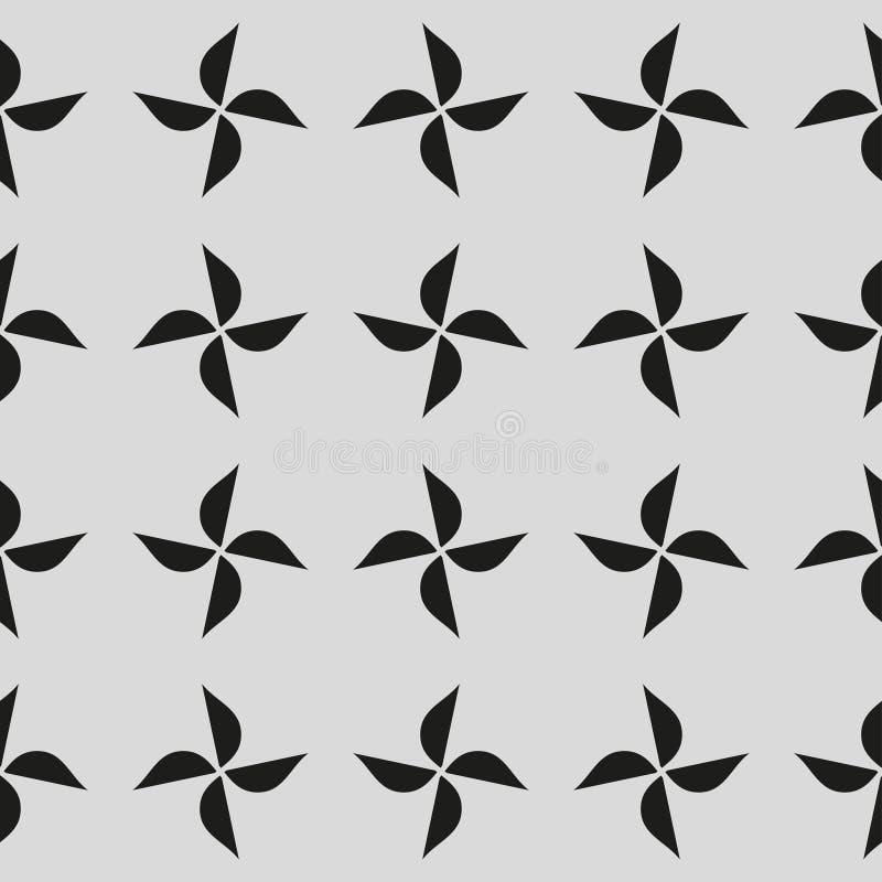 bezszwowy wzór z geometrycznymi kształtami i symbolami royalty ilustracja