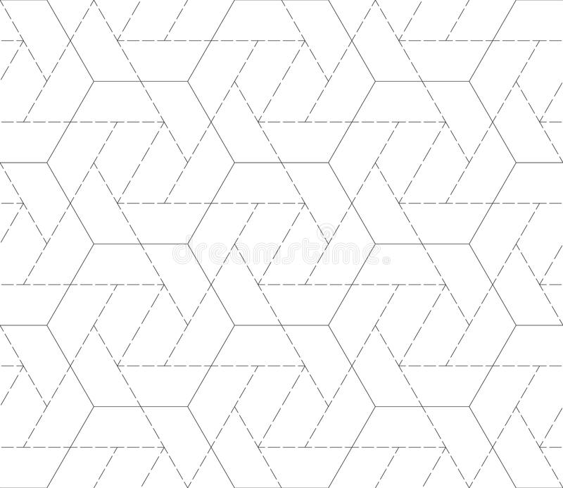 bezszwowy wzór z geometrycznymi kształtami i symbolami ilustracji