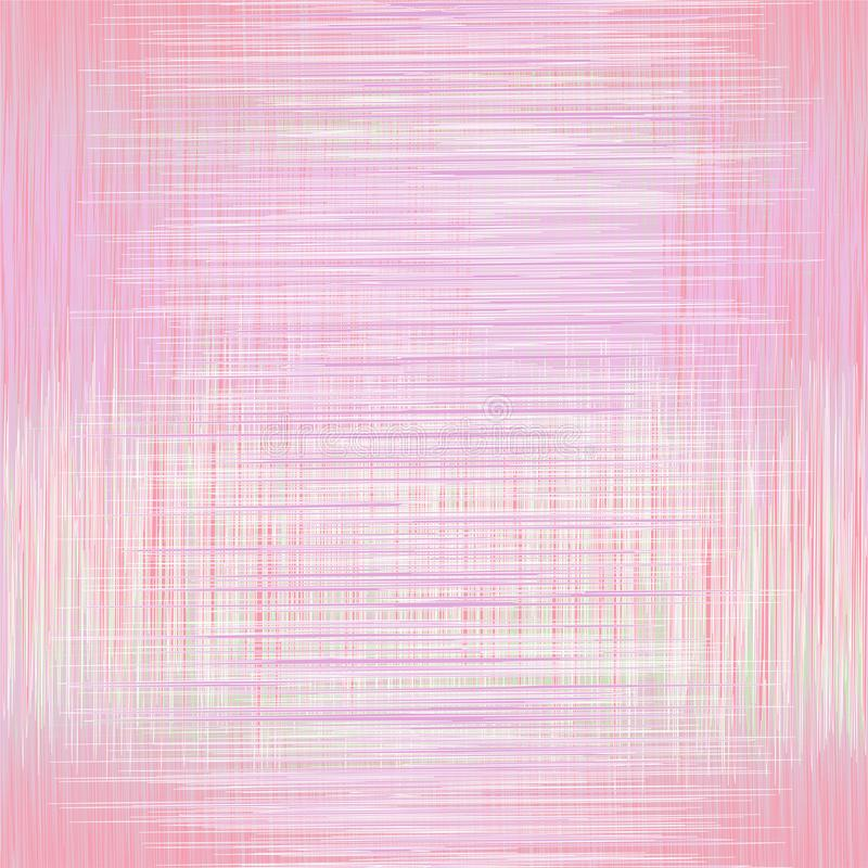 Bezszwowy wzór z grunge przecinał lampasy w różowych pastelowych kolorach ilustracji