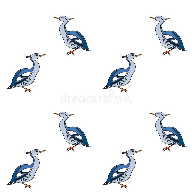 Bezszwowy wzór z kaczkami ilustracja wektor