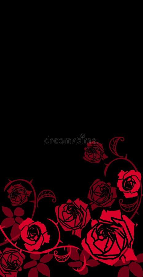 Bezszwowy wzór z kwiat róży kwiecistym tłem ilustracji
