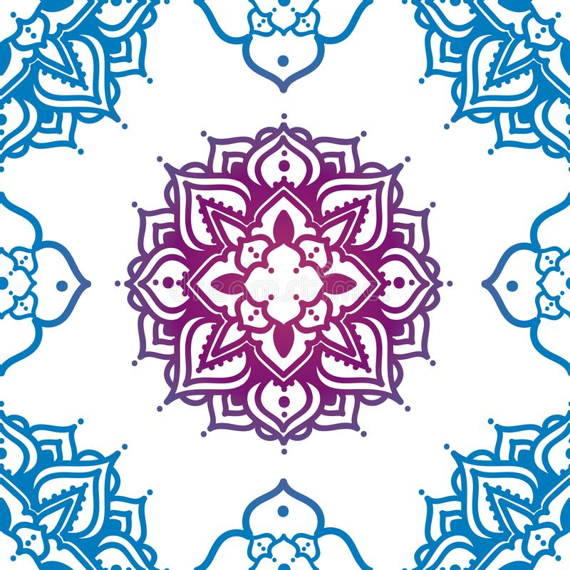Bezszwowy wzór z madala ornamentem royalty ilustracja