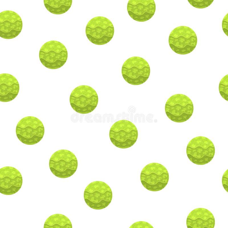 Bezszwowy wzór z Magicznymi sferami Zielona abstrakcjonistyczna pi?ka Papierowy skutek Wektorowa ilustracja dla projekta, Opakunk ilustracja wektor