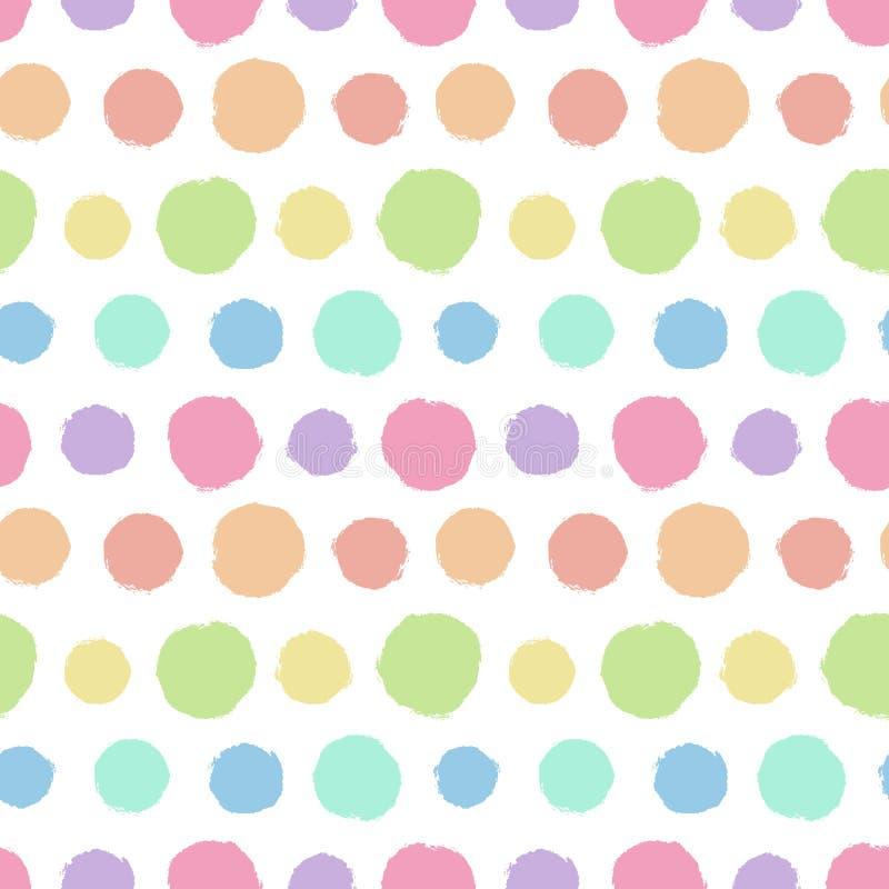 Bezszwowy wzór z malującą polki kropki teksturą ilustracji