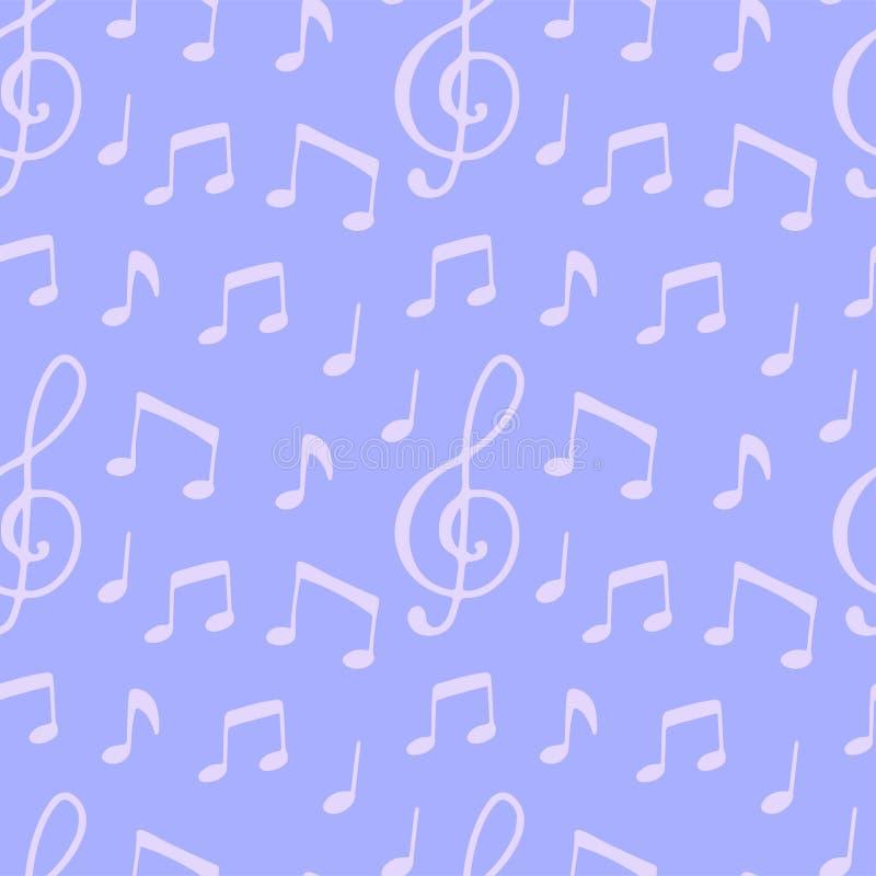 Bezszwowy wzór z muzyki notatką royalty ilustracja