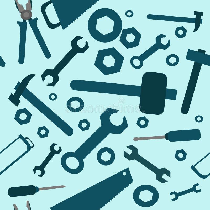 Bezszwowy wzór z narzędziami ilustracji