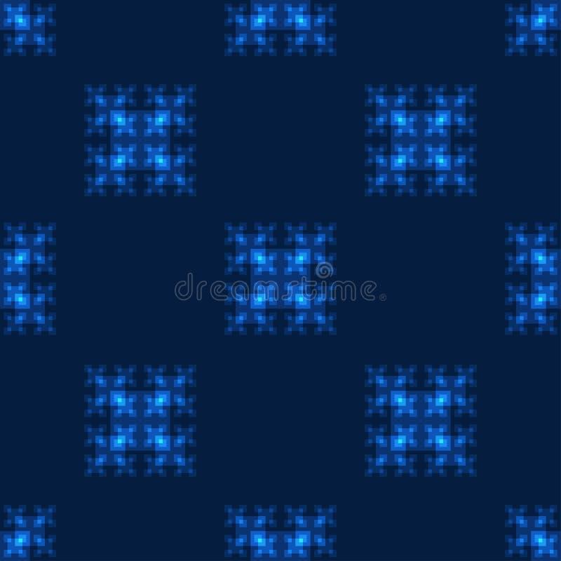 Bezszwowy wzór z neonowymi kwadratami royalty ilustracja