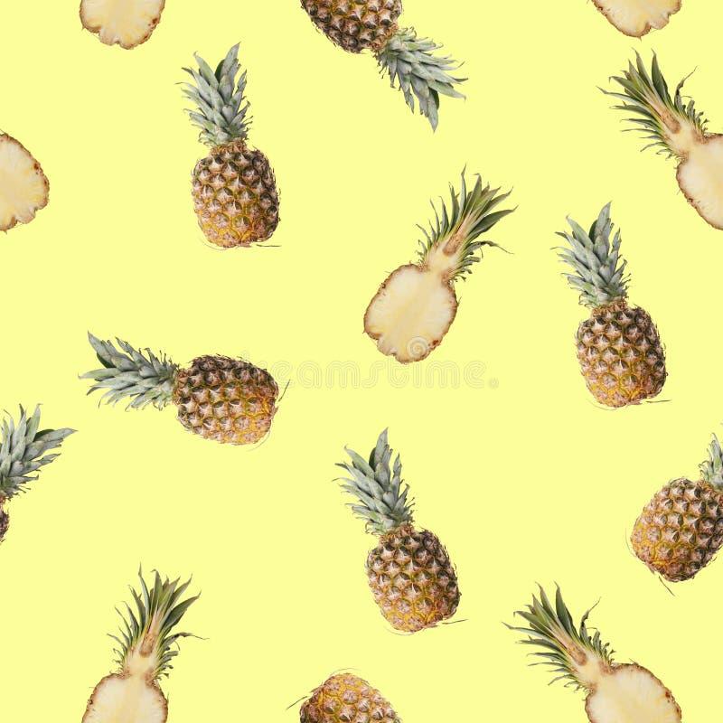 Bezszwowy wzór z obrazkiem cytryna, wapno i mennica, zdjęcia royalty free
