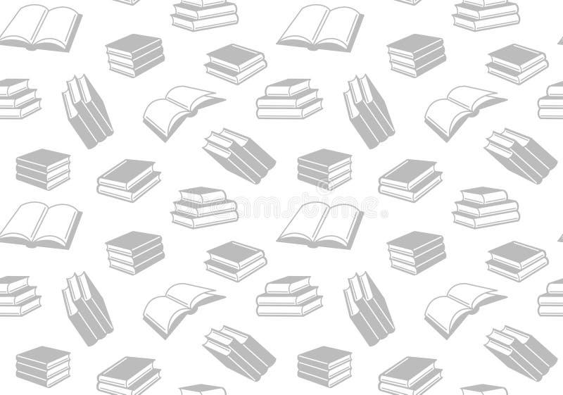 Bezszwowy wzór z otwartymi i zamkniętymi książkami Wektorowy tło royalty ilustracja