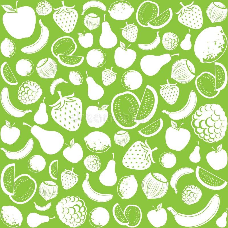 Bezszwowy wzór z owoc royalty ilustracja