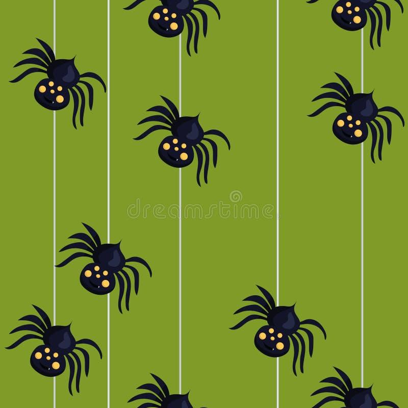 Bezszwowy wzór z pająkami pochodzi na pająk sieci jest mo?e projektant wektor evgeniy grafika niezale?ny kotelevskiy przedmiota o ilustracji
