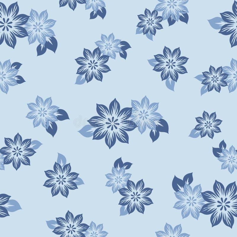 Bezszwowy wzór z pięknymi kwiatami również zwrócić corel ilustracji wektora royalty ilustracja