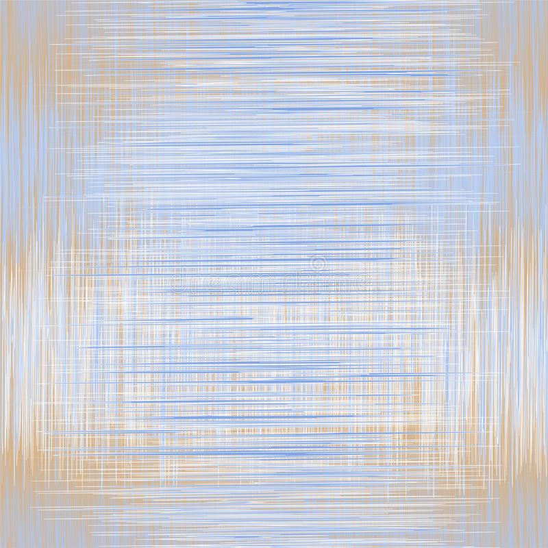 Bezszwowy wzór z pionowo i horyzontalnym grunge przecinający lampasy w błękitnym, beżowy, srebro barwi ilustracja wektor