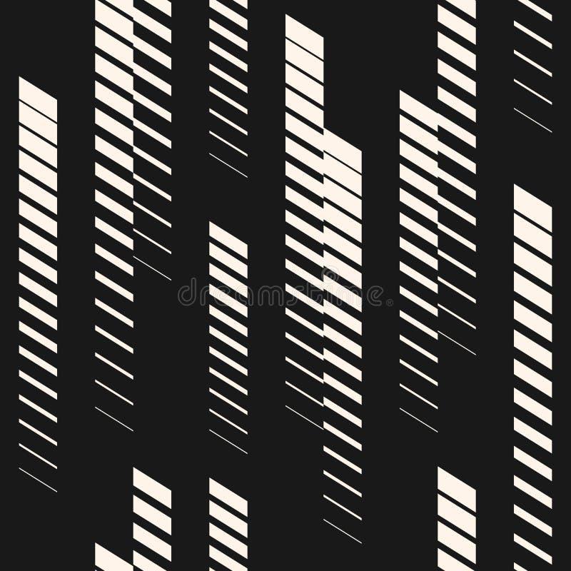 Bezszwowy wzór z pionowo liniami, lampasy miejski wzoru Sporta wzór ilustracji