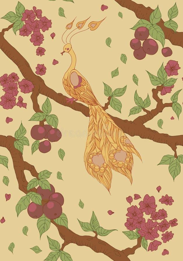 Download Bezszwowy Wzór Z Pożarniczym Ptakiem Ilustracji - Ilustracja złożonej z ogień, wzór: 28974238