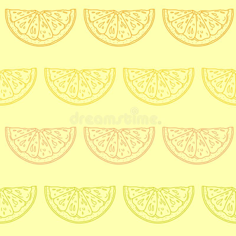 Bezszwowy wzór z pokrojonym cytrusem royalty ilustracja