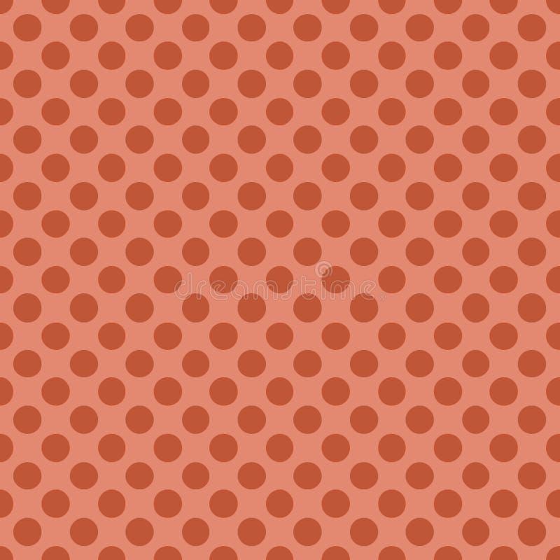 Bezszwowy wzór z polki kropki koloru wektoru Modną koralową ilustracją ilustracja wektor