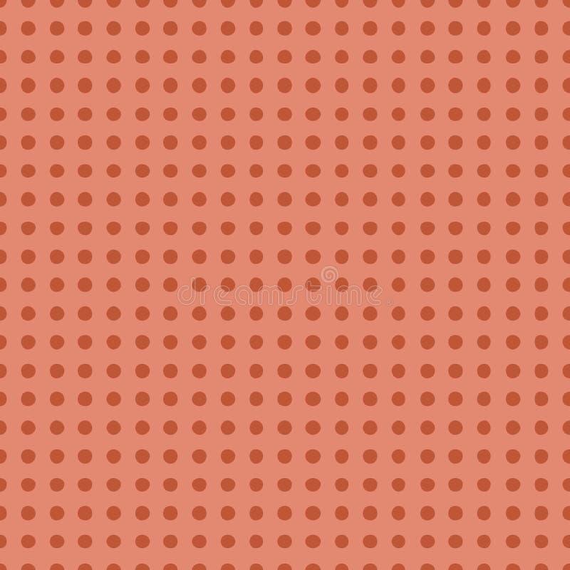 Bezszwowy wzór z polki kropki koloru wektoru Modną koralową ilustracją royalty ilustracja