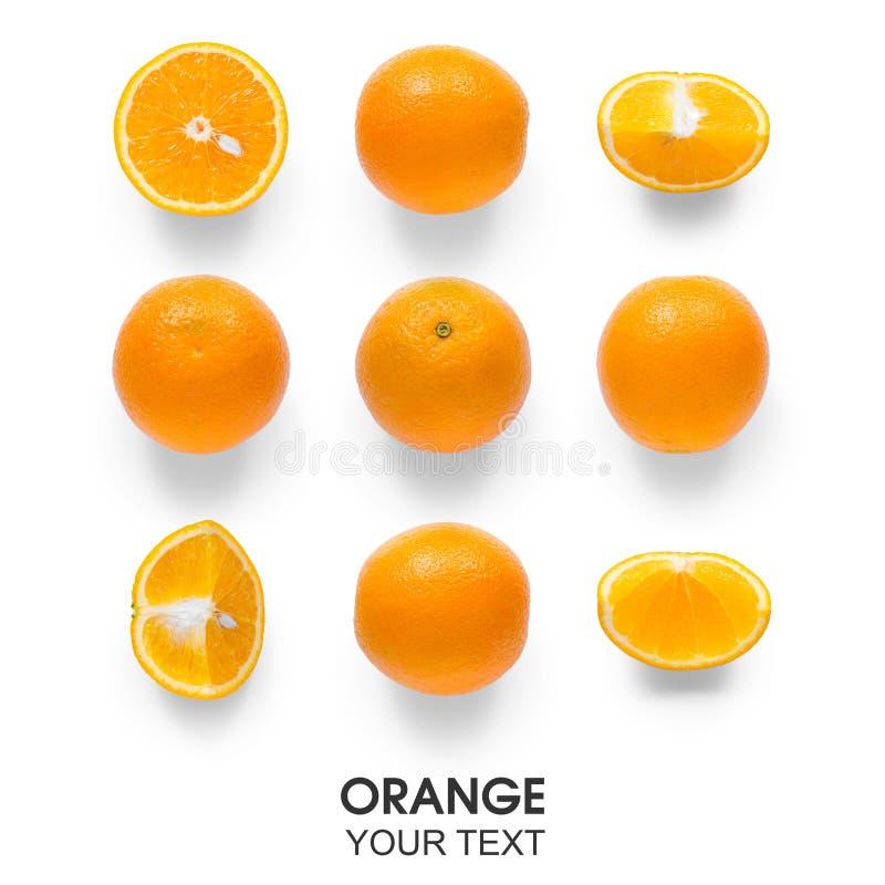 Bezszwowy wzór z pomarańcze fotografia stock
