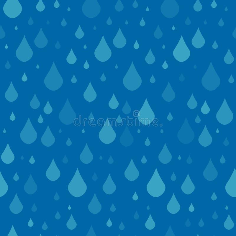 Bezszwowy wzór z raindrops ilustracji