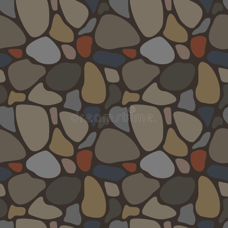 Bezszwowy wzór z skałami royalty ilustracja