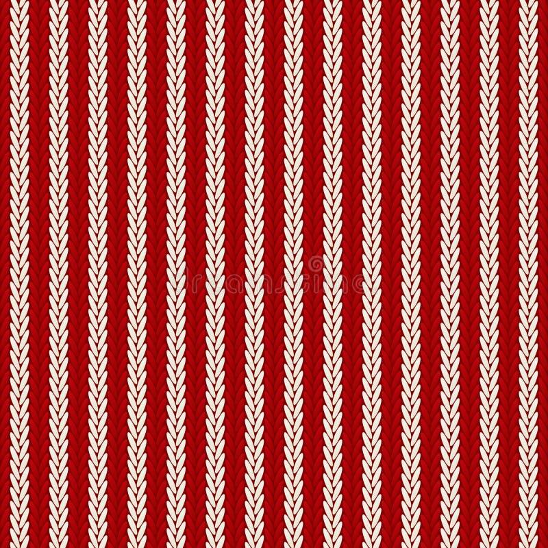 Bezszwowy wzór z trykotowy ozdobnym ilustracji