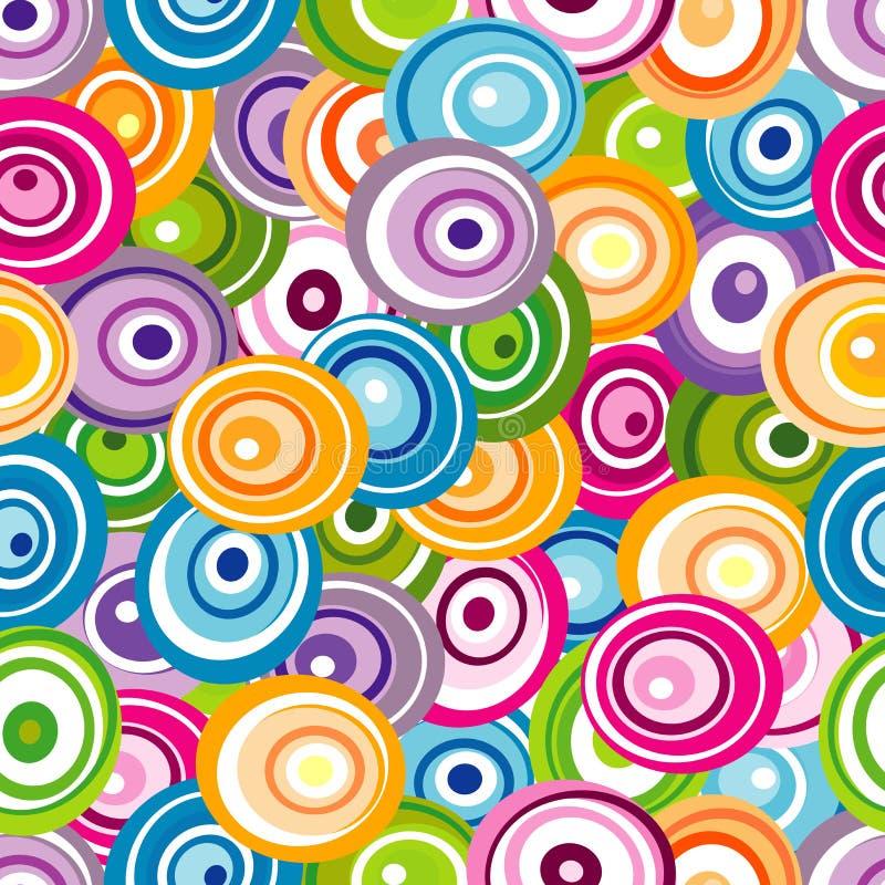 Bezszwowy wzór z varicolored okręgami ilustracji