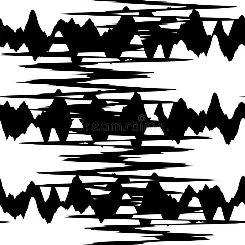 Bezszwowy wzór zygzag royalty ilustracja