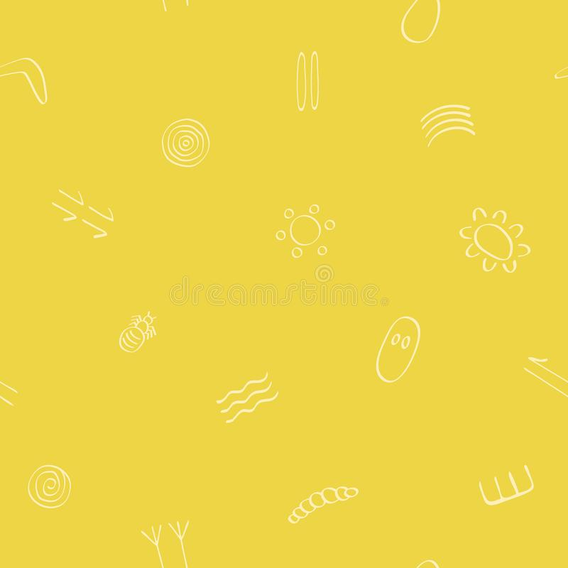 Bezszwowy wz?r z australijskimi tubylczymi symbolami ilustracji