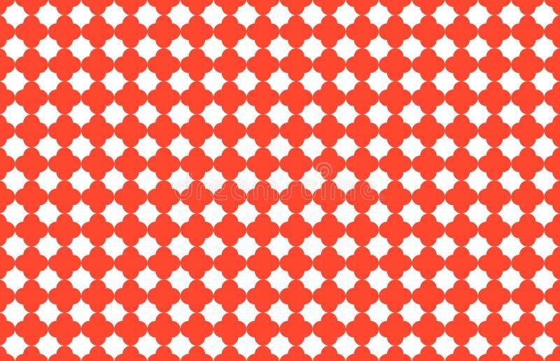 Bezszwowy wz?r z symmetric geometrycznym ilustracja wektor