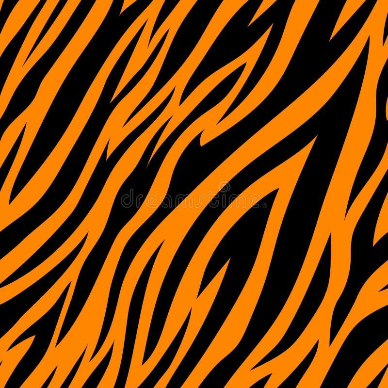 Bezszwowy wz?r z tygrysimi lampasami ilustracja wektor