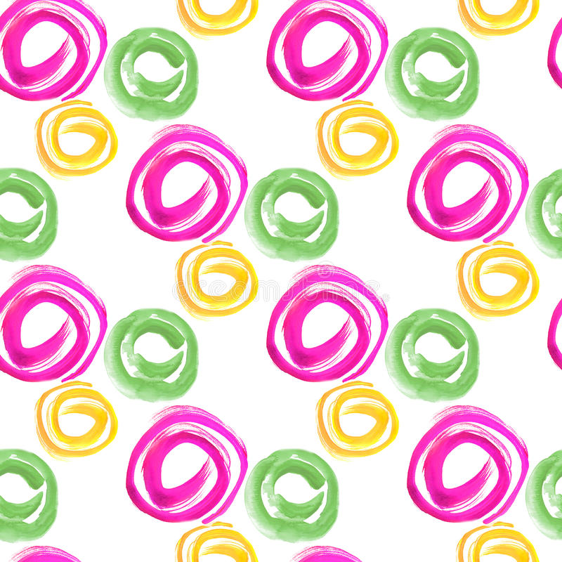 bezszwowy wzoru Akwarela geometryczni kształty w abstrakta stylu obraz stock
