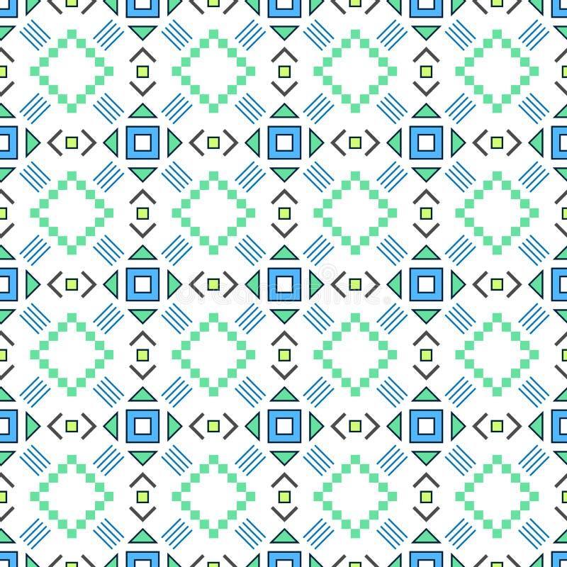 bezszwowy wzoru Azteka abstrakcjonistyczny geometryczny t?o Etniczny modnisia styl llustration royalty ilustracja