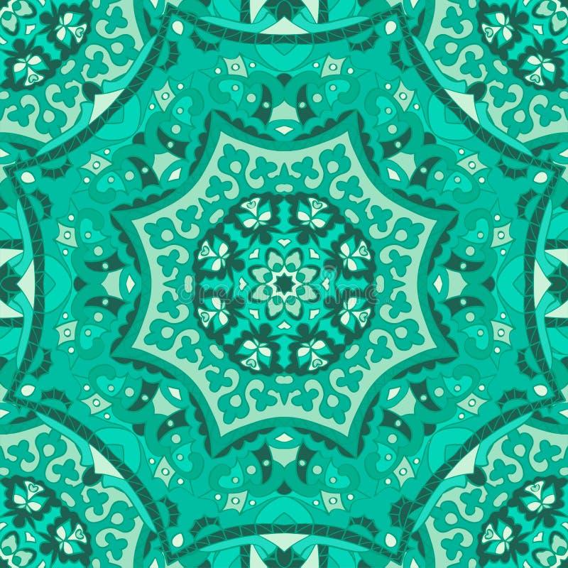 bezszwowy wzoru Dekoracyjny wzór w pięknych kolorach Wektorowy tło royalty ilustracja