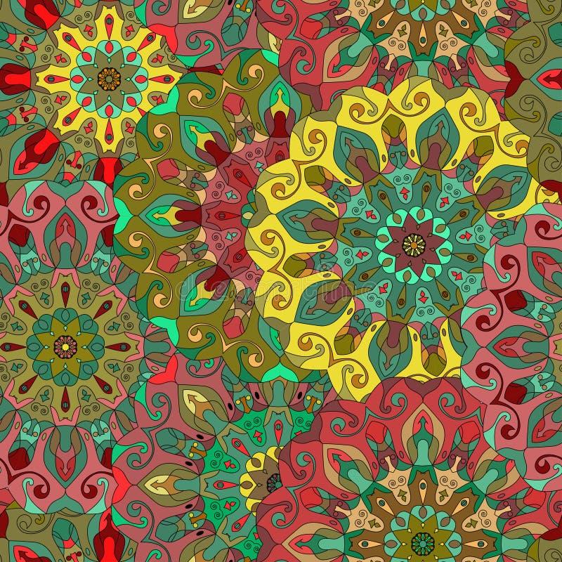 bezszwowy wzoru elementu dekoracyjny rocznik royalty ilustracja