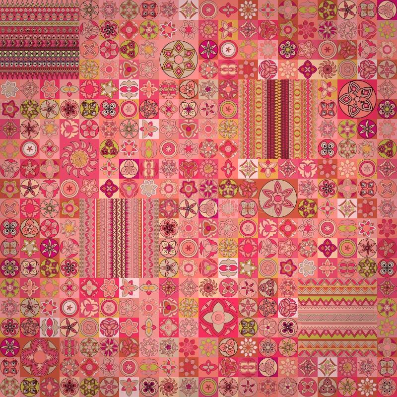 bezszwowy wzoru elementu dekoracyjny rocznik sporządzić tła ręka Islam, język arabski, indianin, ottoman motywy obraz stock