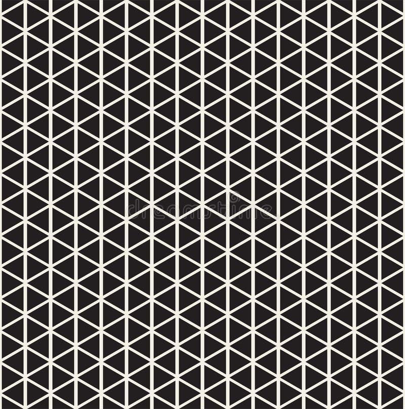 bezszwowy wzoru geometrycznego Abstrakcjonistyczny tło z trójbokami ilustracji