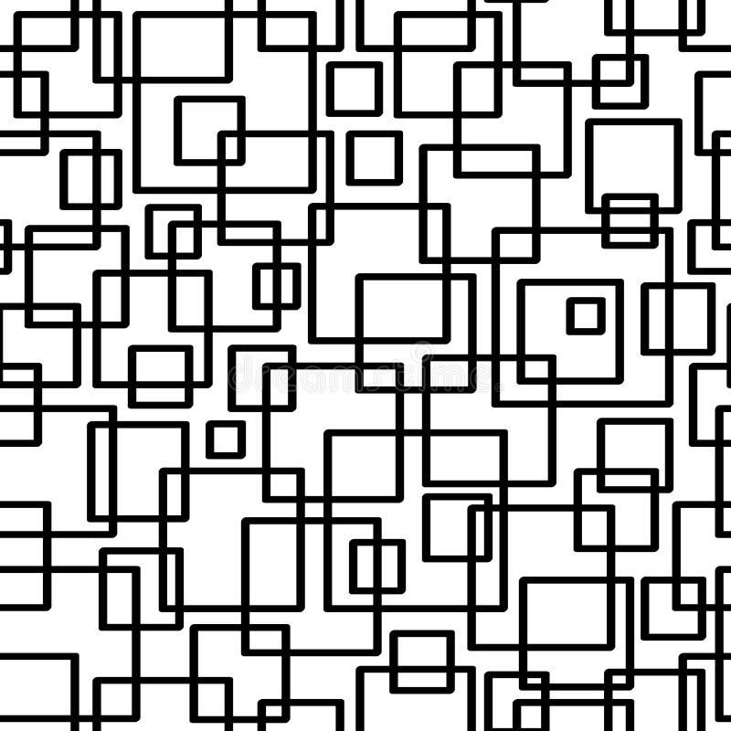 bezszwowy wzoru geometrycznego Geometryczny prosty druk Wektorowa wielostrzałowa tekstura royalty ilustracja