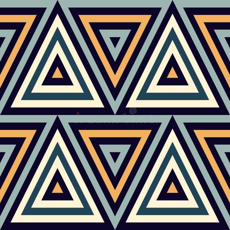 bezszwowy wzoru geometrycznego Geometryczny prosty druk Wektorowa wielostrzałowa tekstura z trójbokami ilustracja wektor
