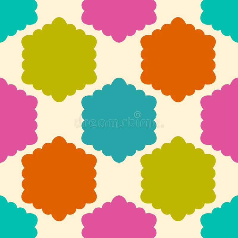 bezszwowy wzoru geometrycznego Kolorowego nieskończoności abstrakcjonistycznego kędzierzawego honeycomb geometrical tło Sexangle, ilustracja wektor