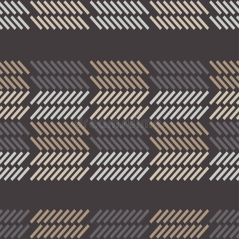 bezszwowy wzoru geometrycznego Tekstura paski royalty ilustracja