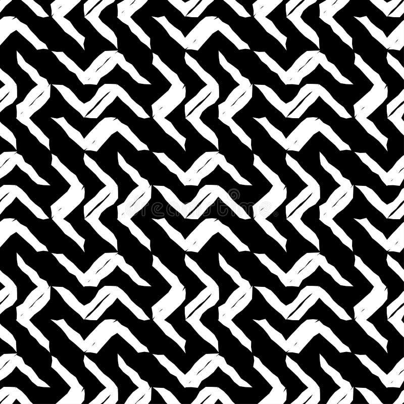 bezszwowy wzoru geometrycznego Tekstura paski Azjatycki motyw Skrobaniny tekstura royalty ilustracja