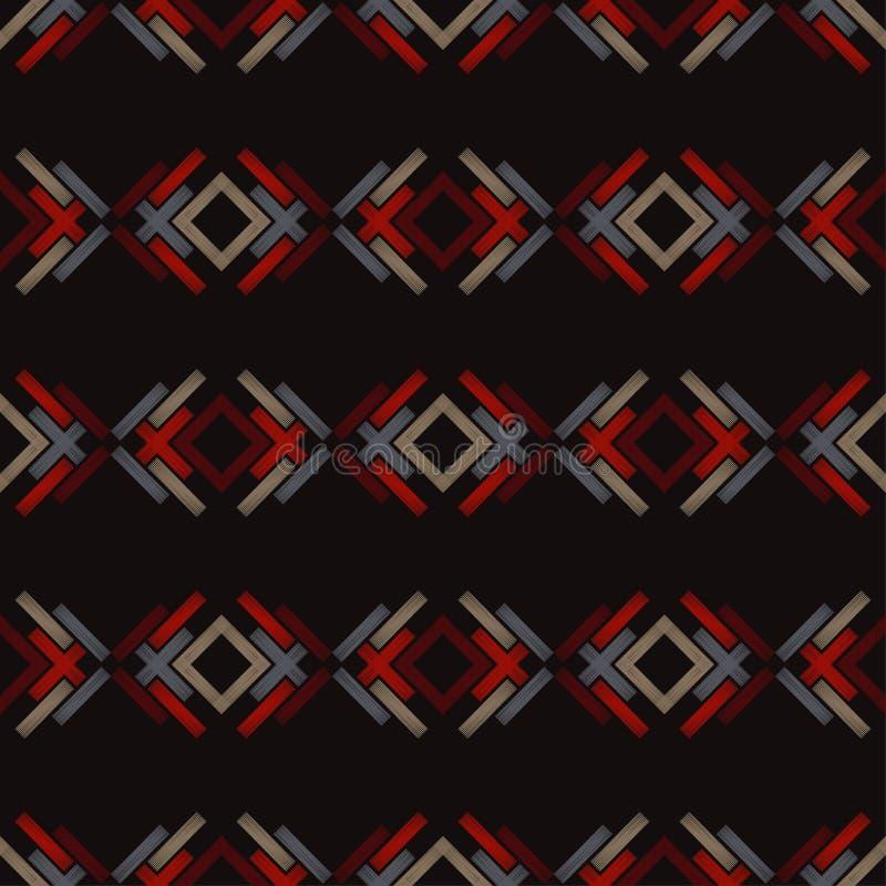 bezszwowy wzoru geometrycznego Tekstura paski Azjatycki motyw Skrobaniny tekstura ilustracji