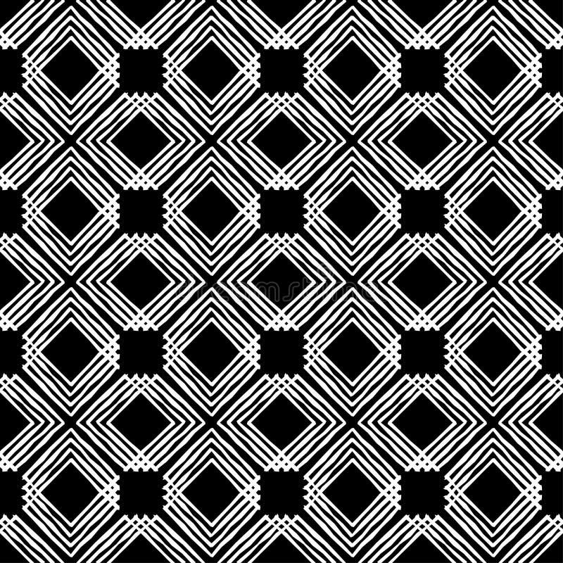 bezszwowy wzoru geometrycznego Tekstura paski Skrobaniny tekstura ilustracji