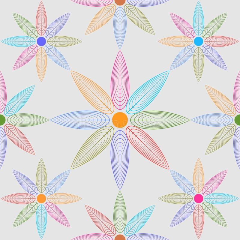 bezszwowy wzoru Kwiecisty elegancki tło Wektorowa wielostrzałowa tekstura ilustracji