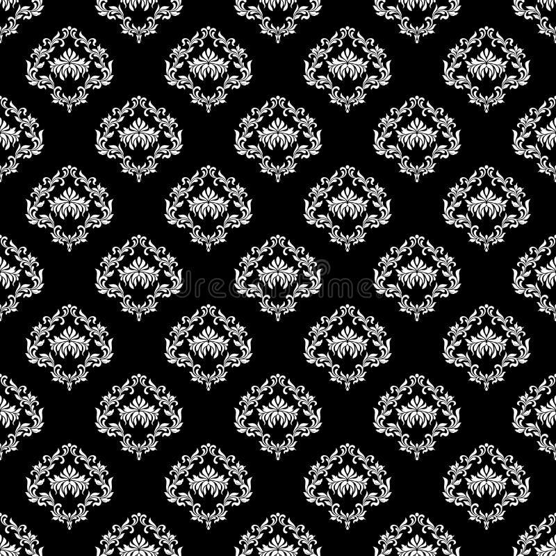 bezszwowy wzoru Luksusowa tapeta w rocznika stylu T?o adamaszek ilustracji