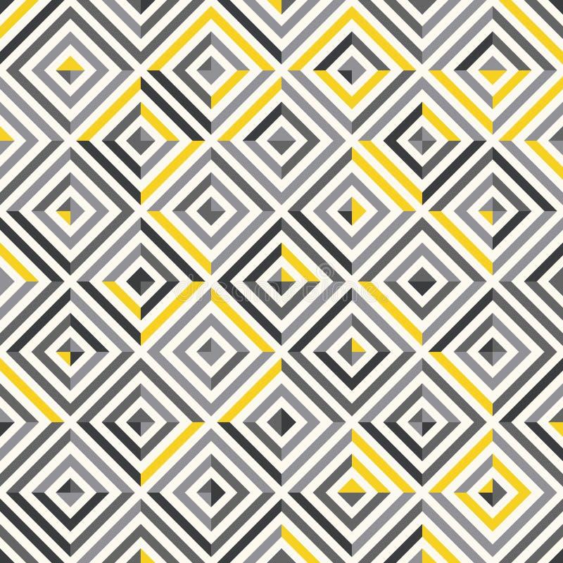 bezszwowy wzoru nowożytna elegancka tekstura Wielostrzałowe geometryczne płytki z prostokątów elementami royalty ilustracja