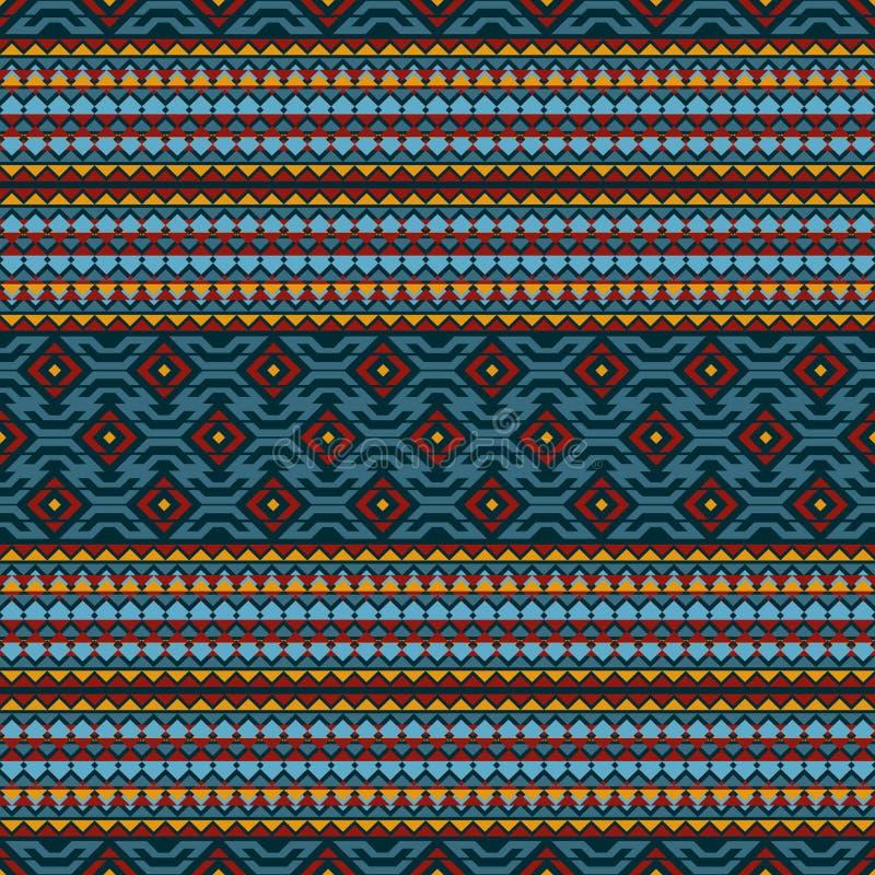 bezszwowy wzoru Ornament w stylu Amerykańscy indianie plemienny ornament royalty ilustracja