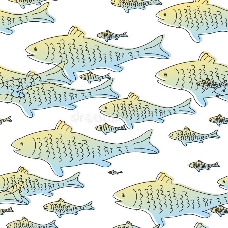 bezszwowy wzoru ryb ilustracji